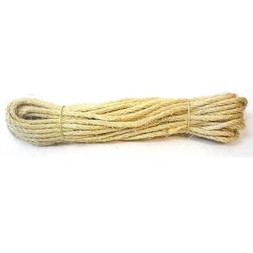 Верёвка кручёная сизалевая 10мм.